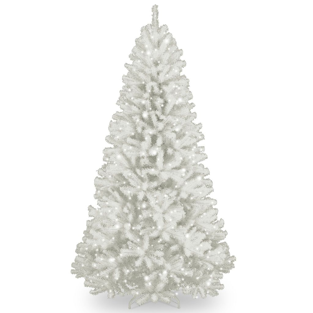 National Tree Company 7.5-ft. Pre-Lit North Valley White Spruce ...