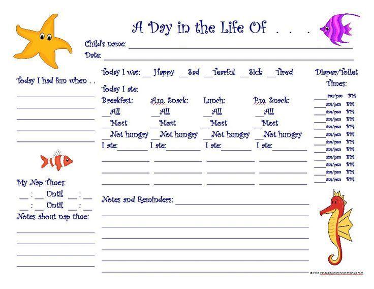 Free Printable Preschool Progress Reports Under The Sea