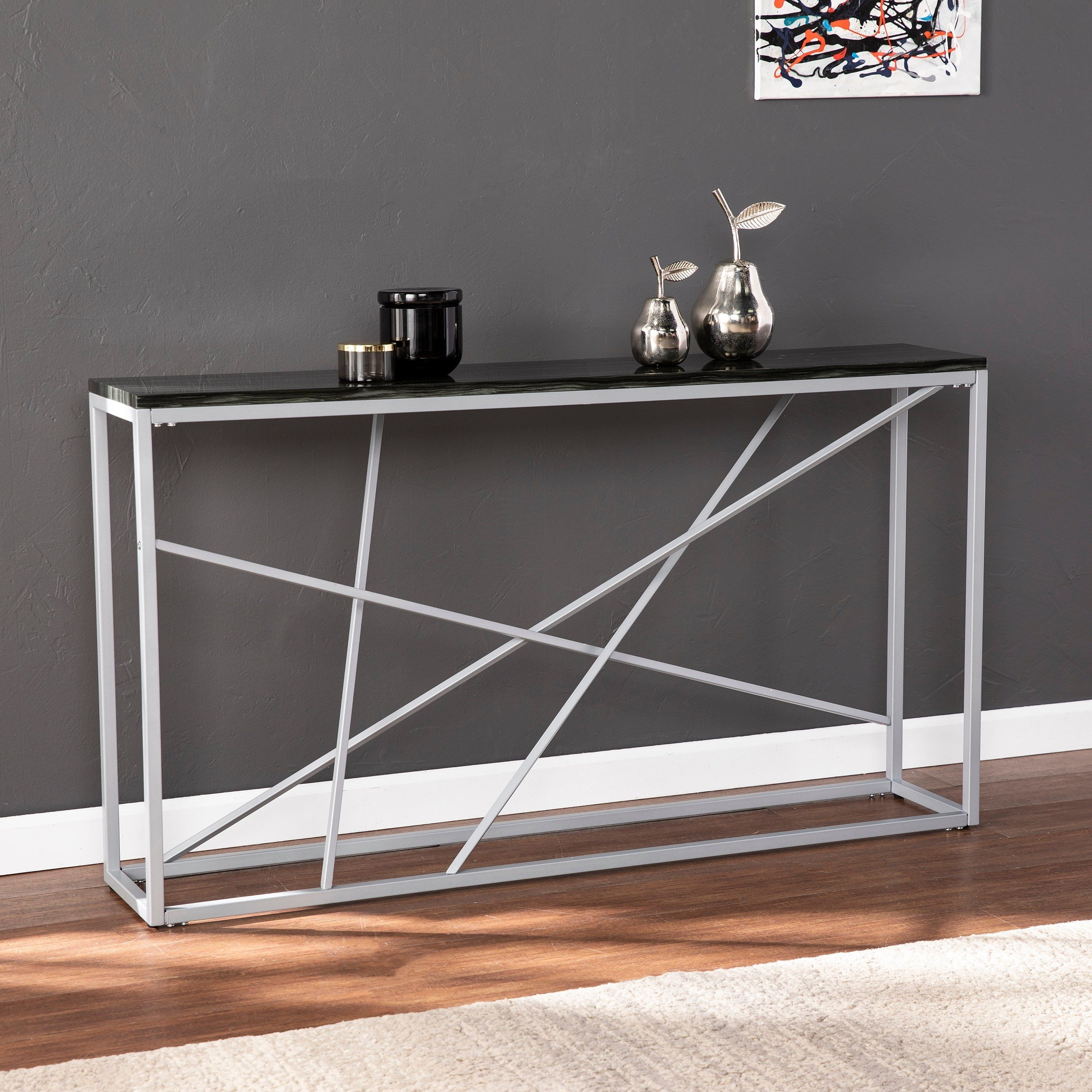Terrific Strick Bolton Sigrid Faux Marble Skinny Console Table Pabps2019 Chair Design Images Pabps2019Com