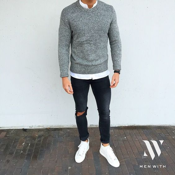 cal a rasgada masculina destroyed jeans pra inspirar. Black Bedroom Furniture Sets. Home Design Ideas