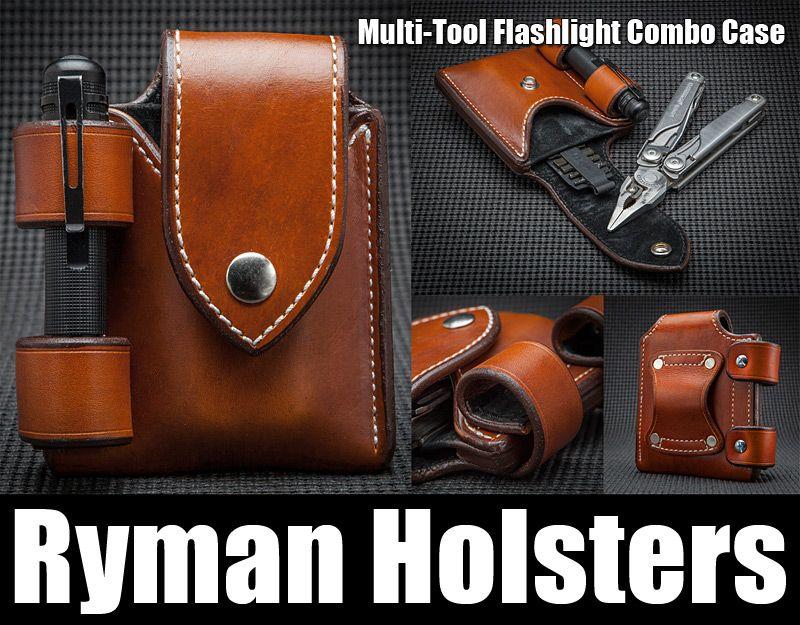 Ryman Multitool Flashlight Combo Case Leather