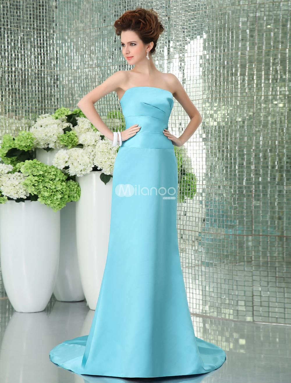 Strapless satin bridesmaid dress get the look everyone would envy