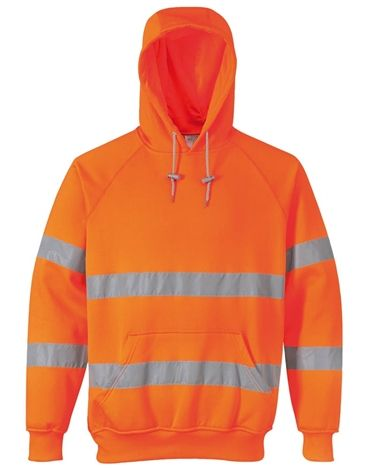 HIGH VISIBILITY SAFETY ORANGE PULLOVER