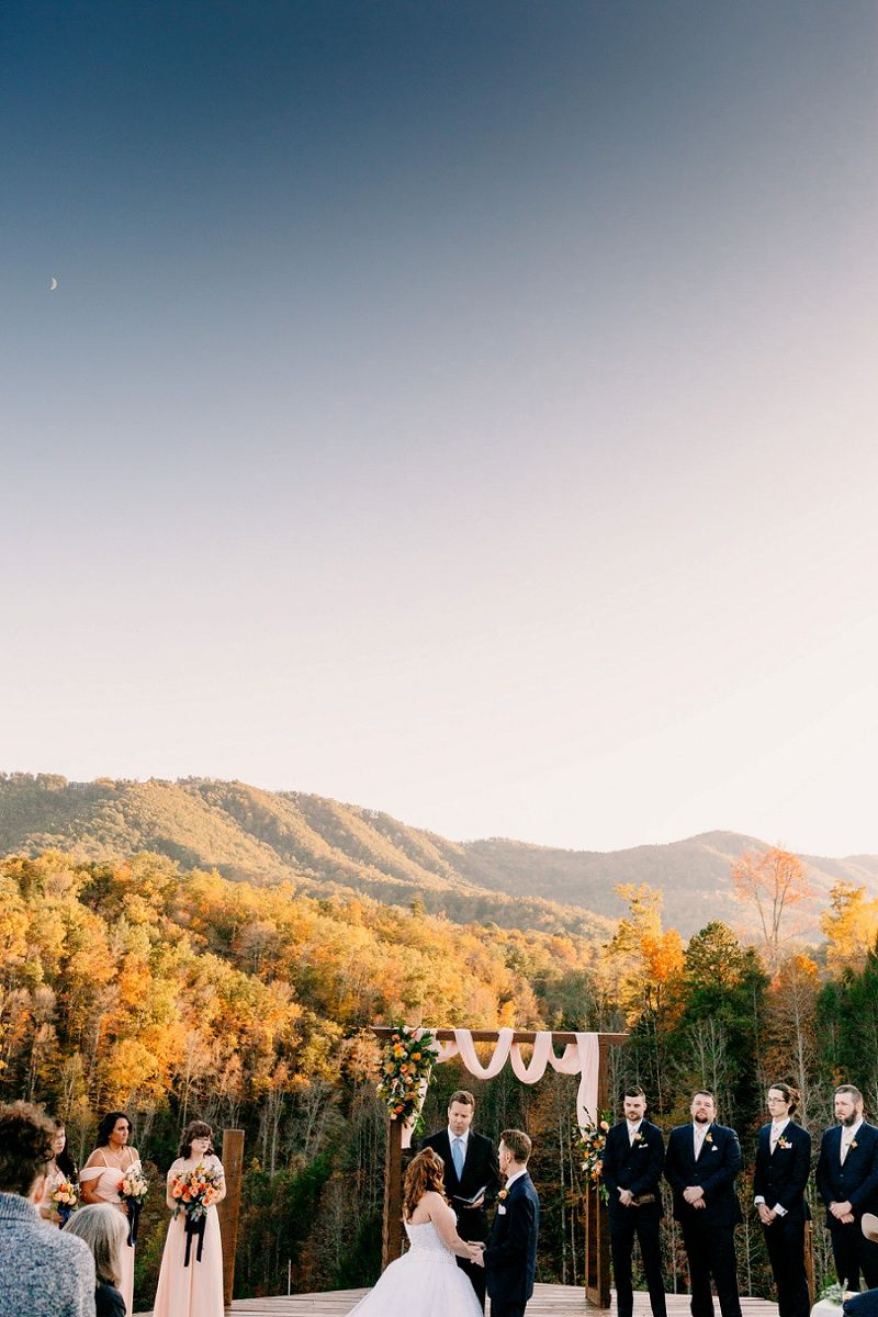Fall Wedding At Mountain Mist Farm In Pigeon Forge Tennessee Samantha Jeremy In 2020 Mountain View Weddings Fall Mountain Wedding Tennessee Wedding Venues