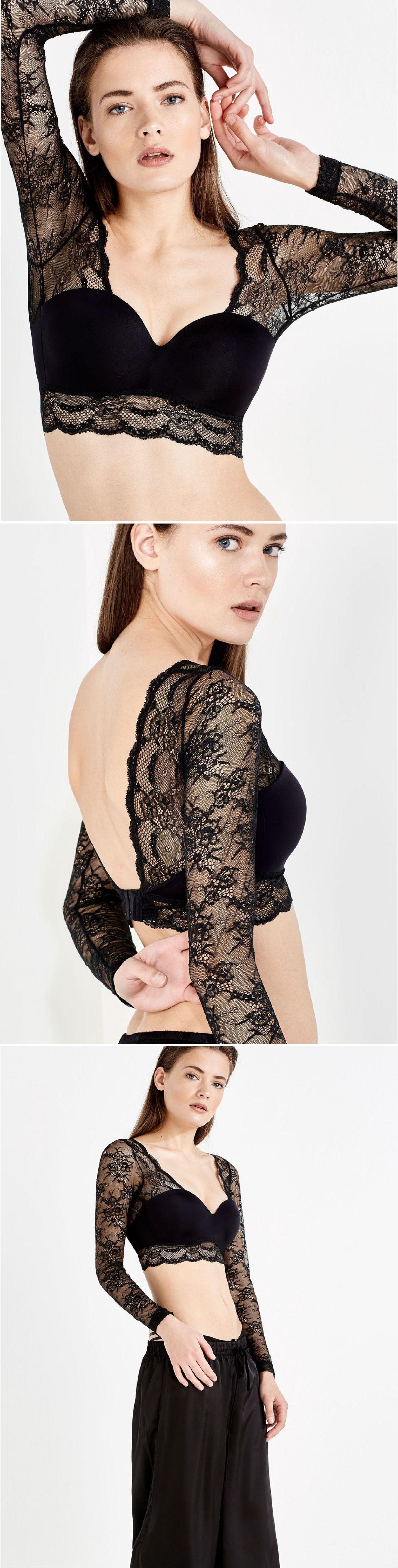 Lace crop top   Women'secret