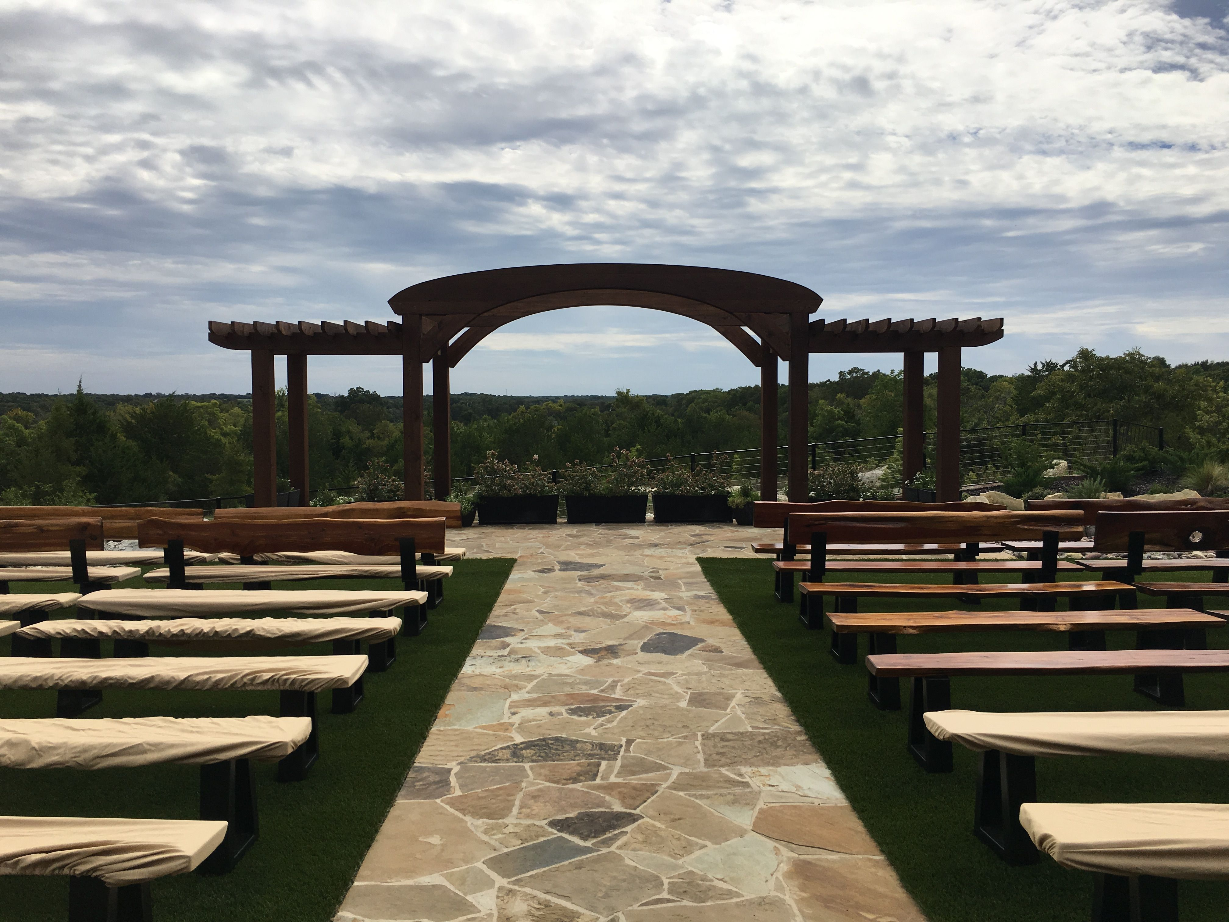 Outdoor Ceremony Area At Stone Crest Venue Near McKinney TX