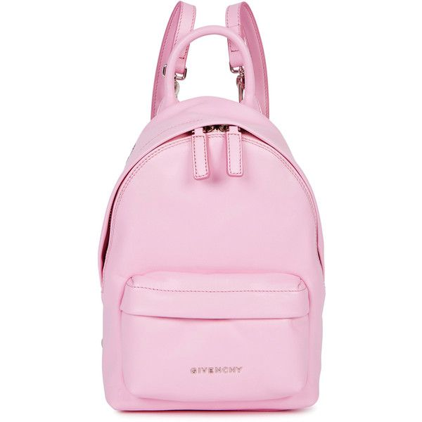 Givenchy Nano Pink Leather Backpack (€935) ❤ liked on Polyvore featuring  bags, 834b77b515