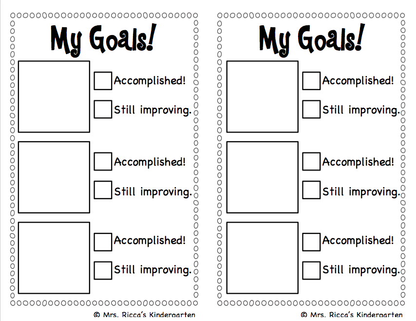 Candid image within daily goals checklist