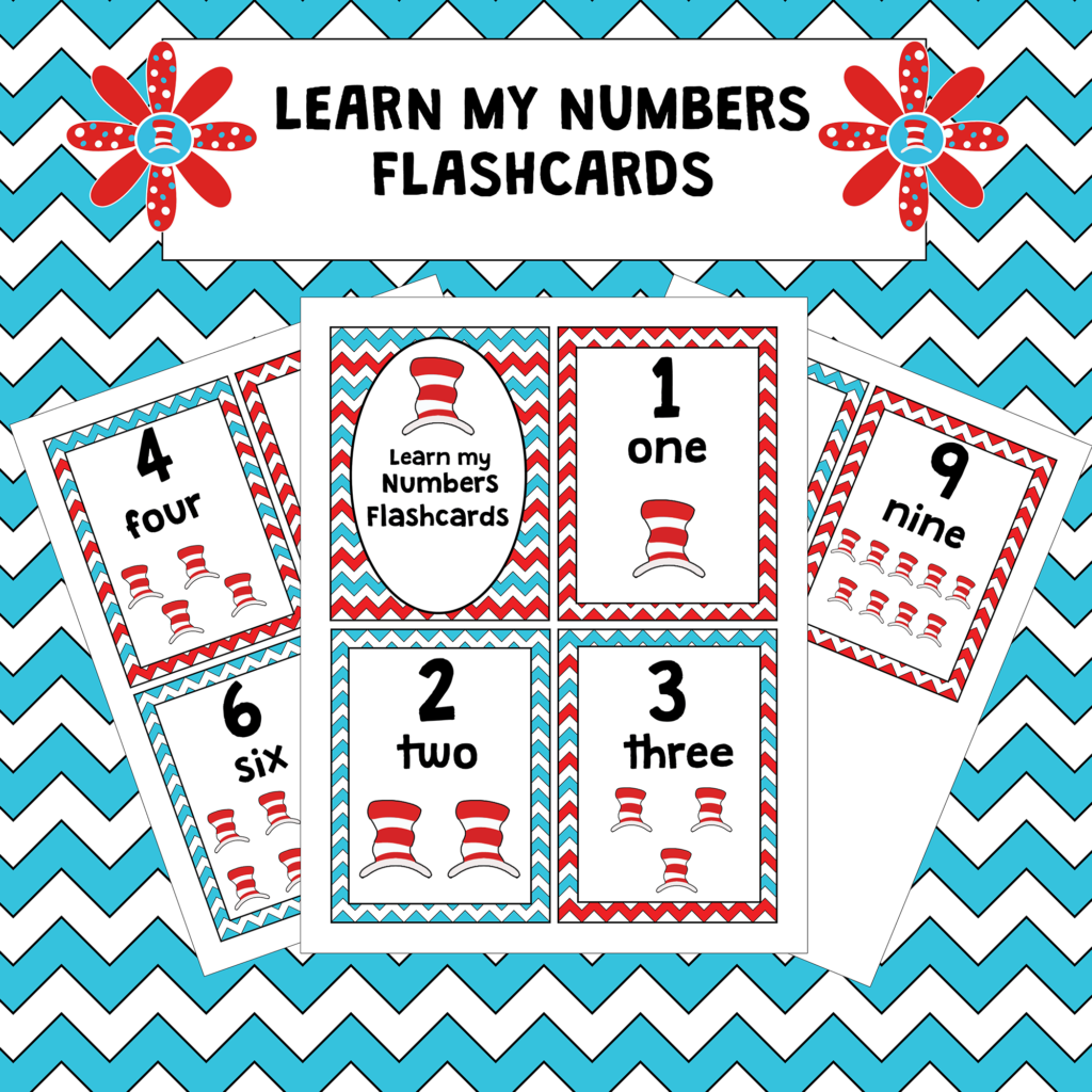 Learn Numbers With Dr Seuss Flashcards