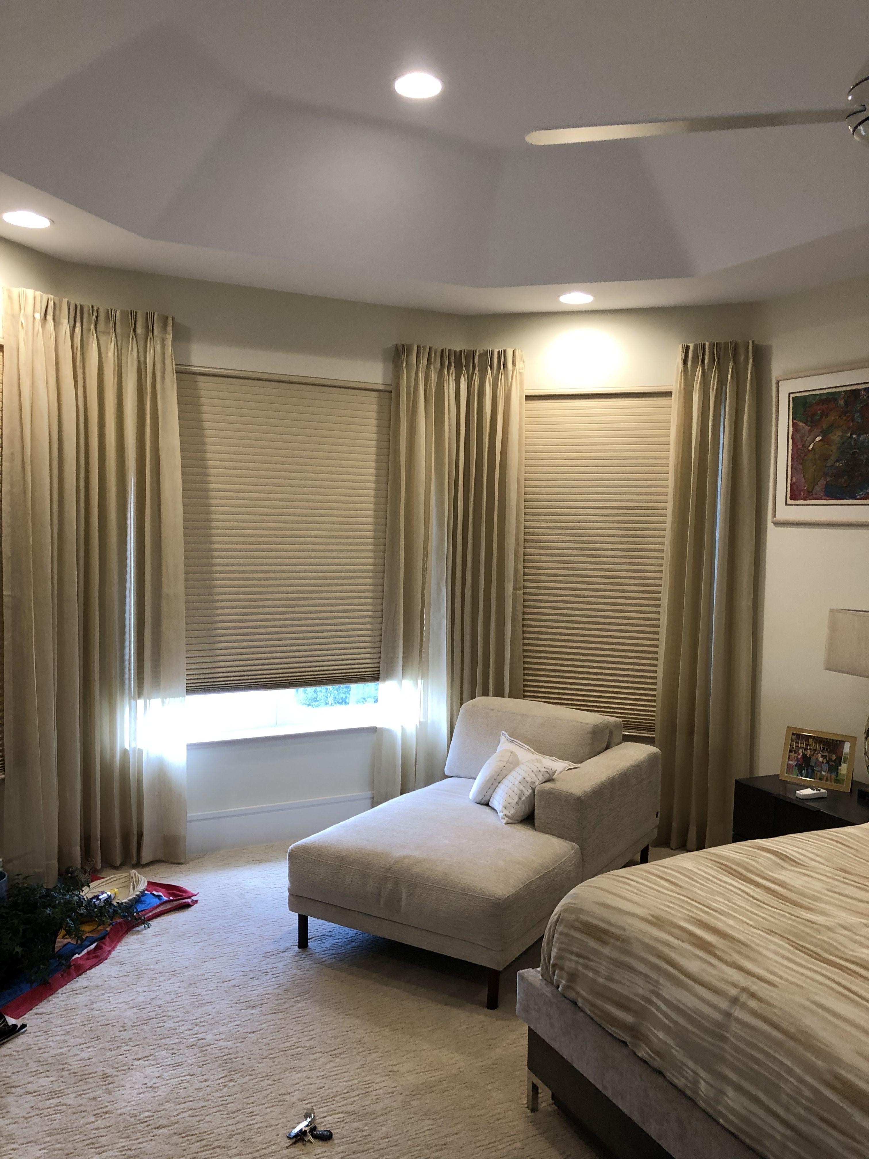 Master bedroom side panels on front blackout