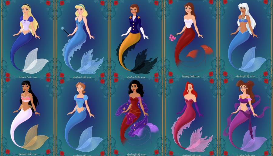 disney mermaids 2 by menolikee.deviantart.com on @deviantART