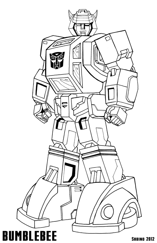 G1 Bumblebee By Ajsabino On Deviantart In 2021 Transformers Coloring Pages Bee Coloring Pages Coloring Pages