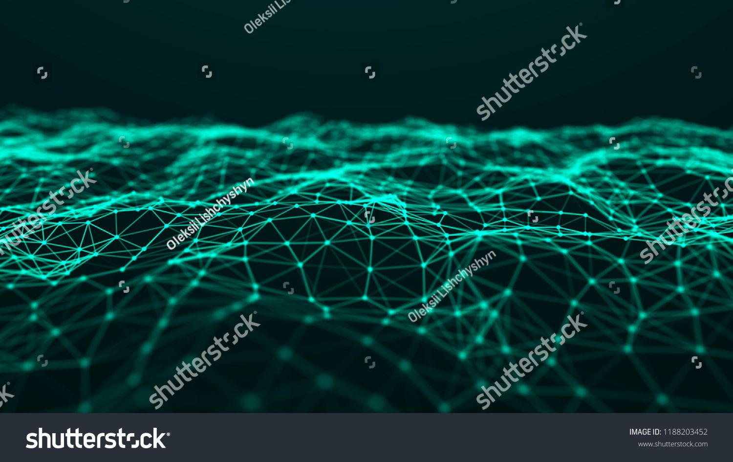Abstract Technology Background Music Green Background Big Data