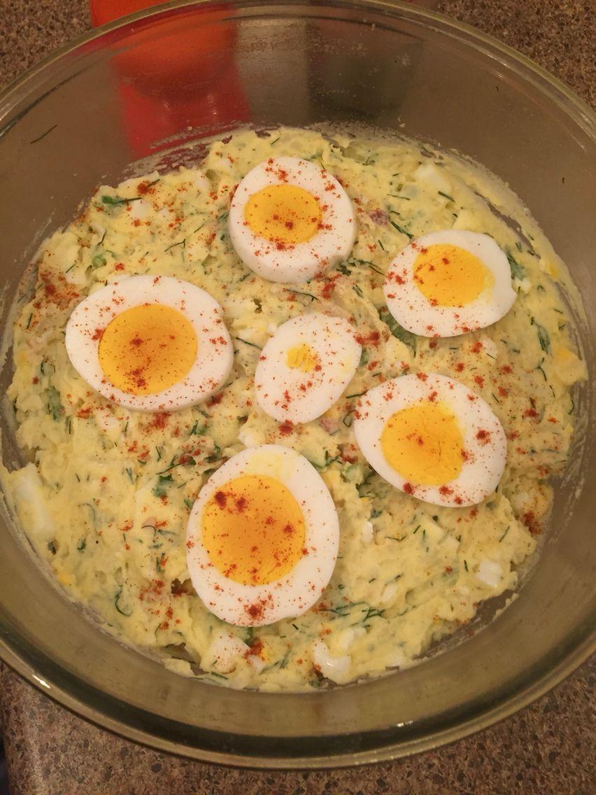 Potato egg dill salad