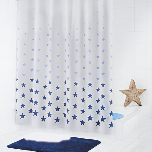 Stars Shower Curtain Grund Colour Light Blue Blue Star Shower