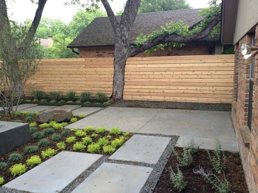 modern backyard landscape image by marlin landscape on backyard garden fence decor ideas id=93482