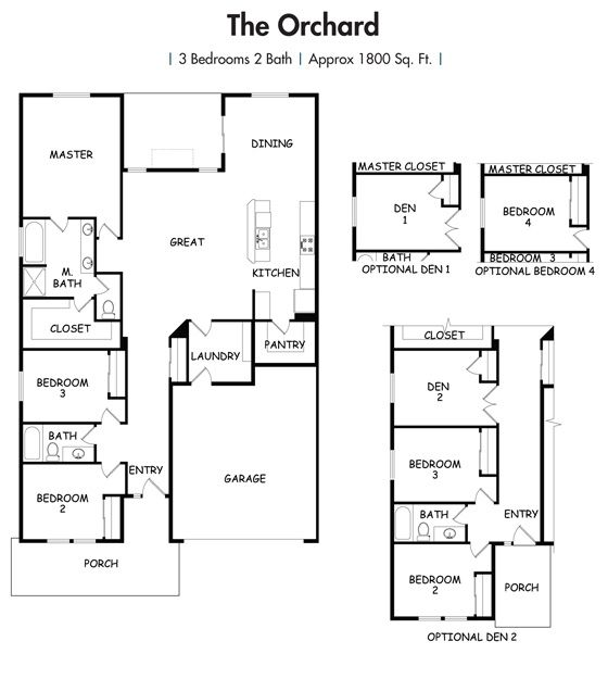 House Plans Orchard Floor Plan Simplicity Homes