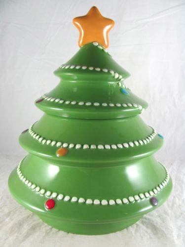 Spode Christmas Tree Cookie Jar Retired