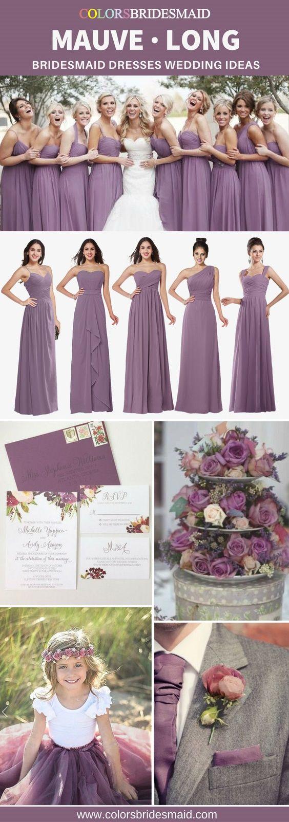 Beste lila lange Brautjungfernkleider, um Brautjungfern glücklich zu machen   – Mauve Bridesmaid Dresses