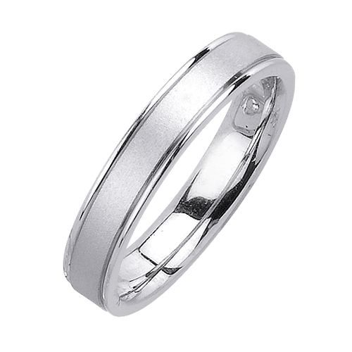 Fabulous Inlaid Diamond Cut Wedding Band