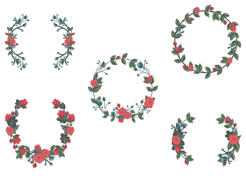 flower wreath boarder frames