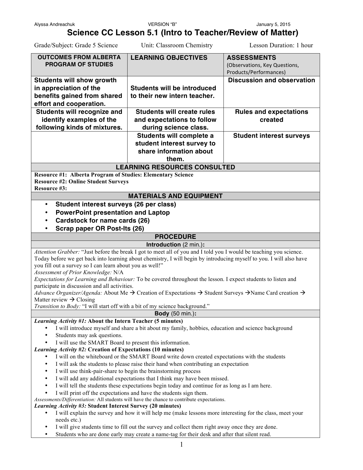Worksheets Ed Science Worksheets For Grade 6 grade 5 classroom chemistry lesson plans resource preview preview