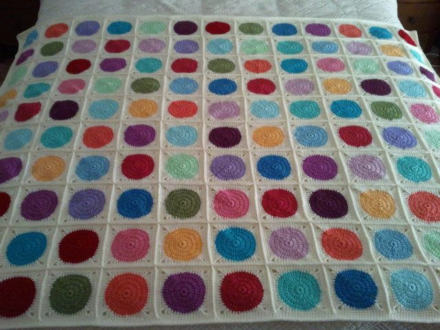 Crochet Circle In A Square Afghan Blanket Explored Crochet