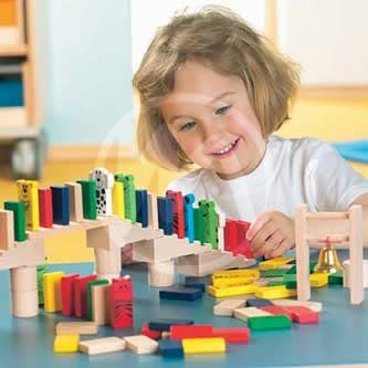 The HABA Domino Race Set Is A Great Activity For Children Of Many Ages. Set