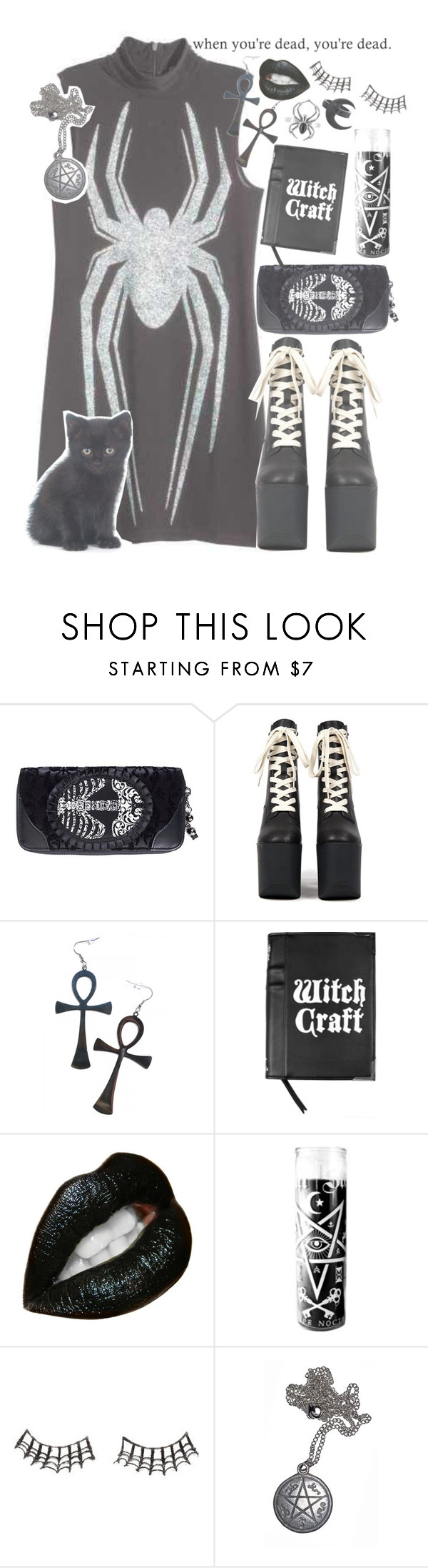 """""""Inferno."""" by drunk-inlove ❤ liked on Polyvore featuring Kill Star and Charlotte Russe"""