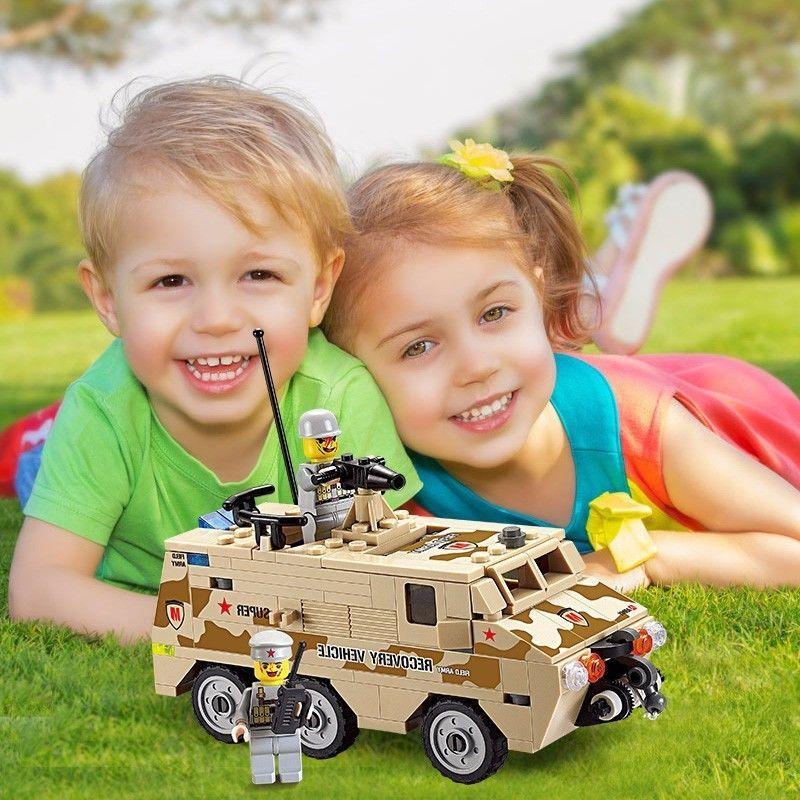 Kids Boys DIY Minitary Tank Armor Vehicle Minifigure Toys Building Blocks Bricks #Unbranded