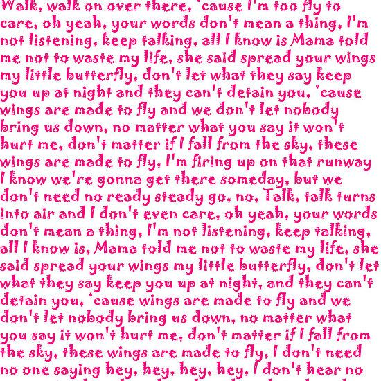 Songtext von Little Mix - Wings Lyrics
