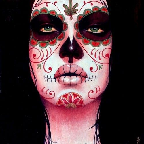 THE HANDMAIDEN: DAY OF THE DEAD..... awesome Halloween makeup ...