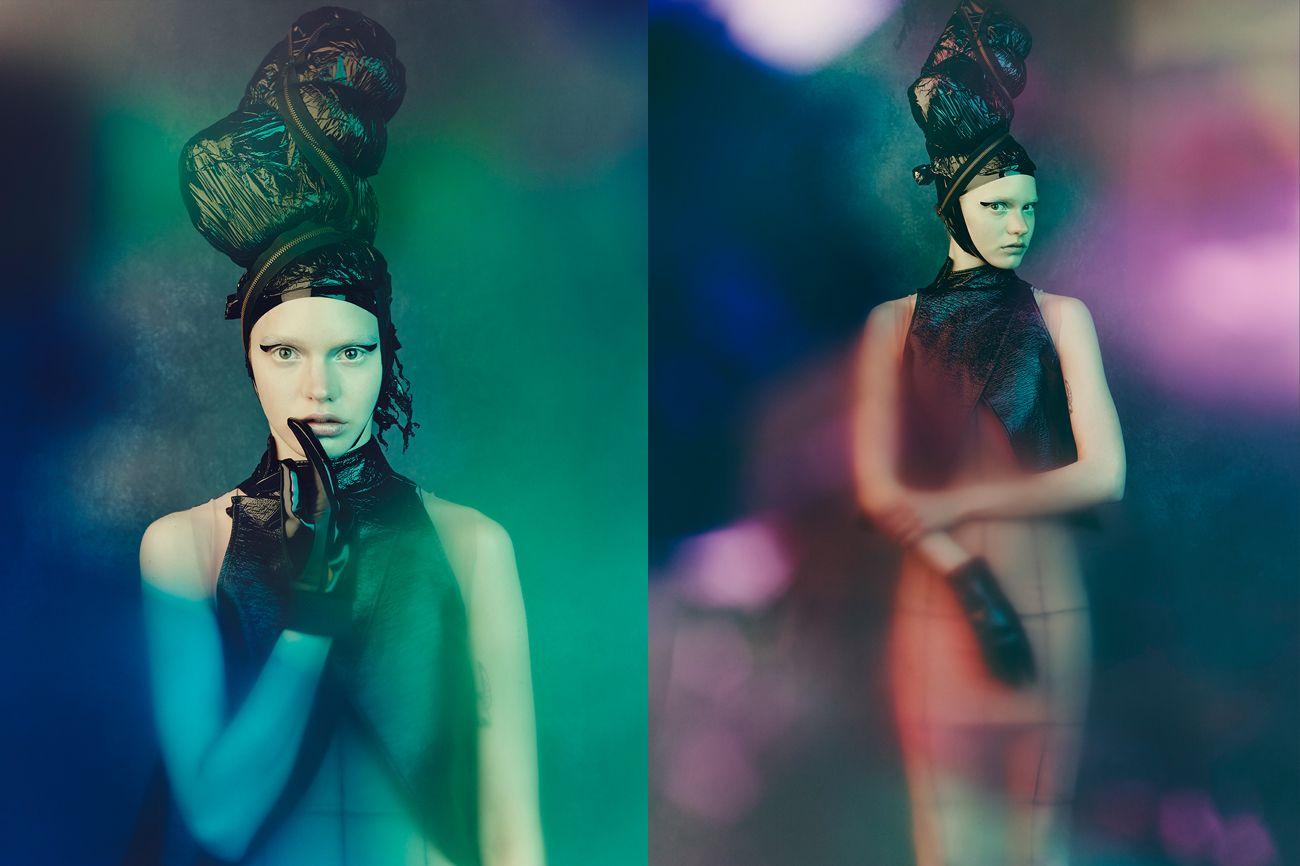 visual optimism; fashion editorials, shows, campaigns & more!: plastic fusion: sophia nilsson by nicolas guérin for vestal magazine!