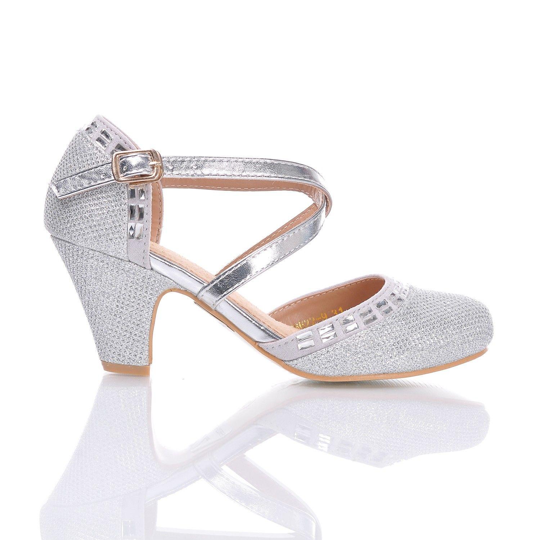 Szpilki Dla Dziewczyny Do Tanca Brokatowe Ecru Shoes Vogue Fashion