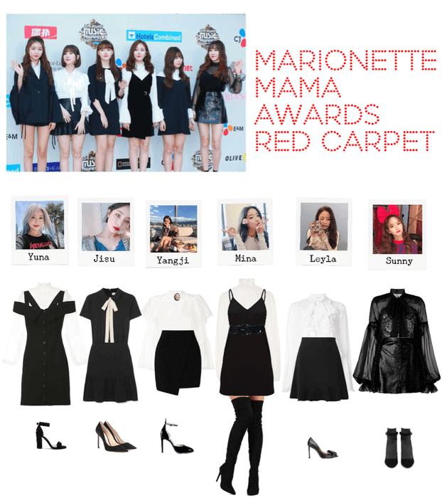 Marionette Red Carpet Look At Mama Awards 2018 Korean Girl Fashion Mama Awards Kpop Fashion Outfits