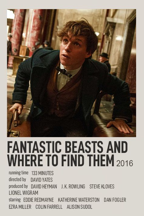 FANTASTIC BEASTS AND WHERE TO FIND THEM POLAROID MOVIE POSTER