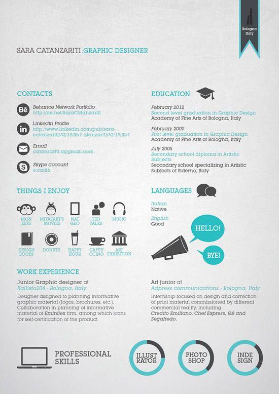Curriculos De Designers Criativos  Dream Job Th And Creative