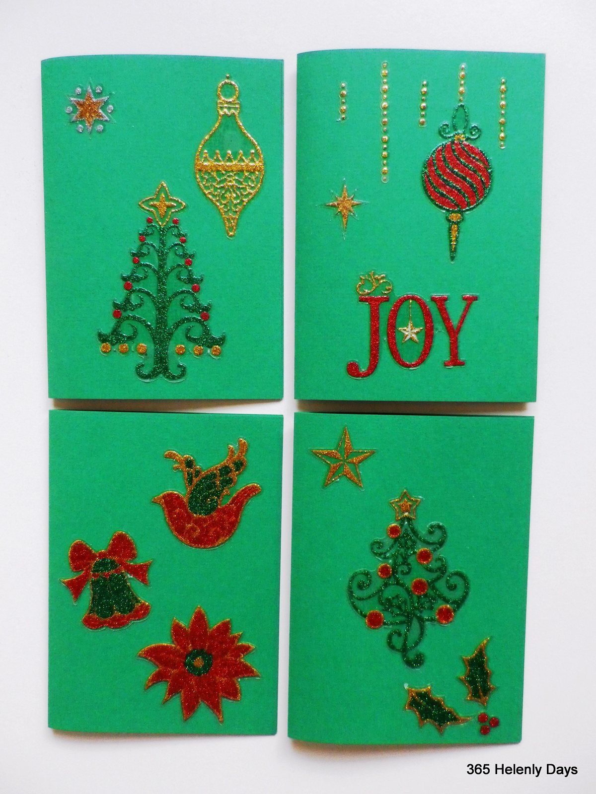 Very easy to make with a collection of stickers! | Easy Christmas ...