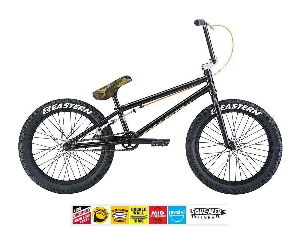 EASTERN ELEMENT BMX BIKE 2017 BICYCLE BLACK/CAMO. Chromo Top Tube ...