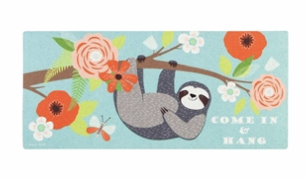 Come In And Hang Sloth Switch Mat Hanging Sloth Mats