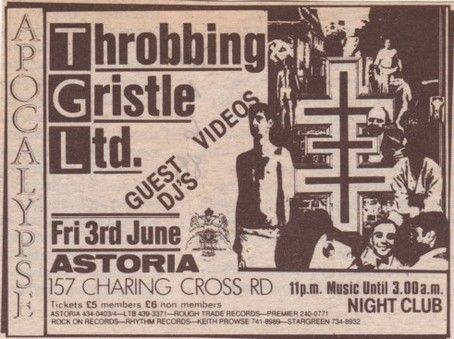 Image result for genesis p orridge throbbing gristle poster