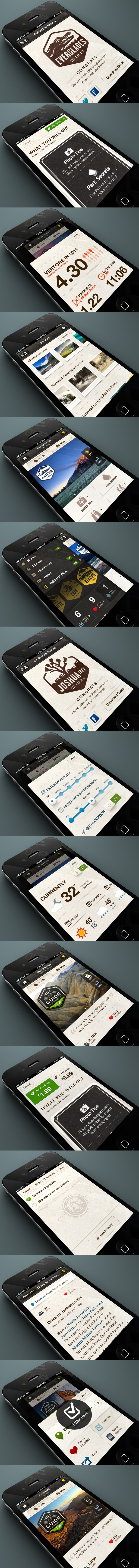 The old IOS 6 style widgets aside, very smooth and clean design.  Nice blending of art style with layout lines and colors.