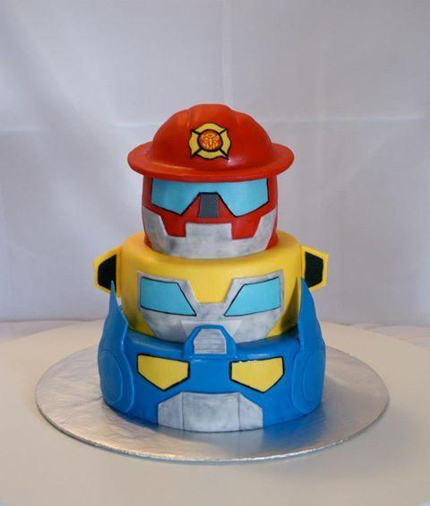 Surprising Cakes By Meg Rescue Bots Cake Rescue Bots Birthday Rescue Funny Birthday Cards Online Alyptdamsfinfo