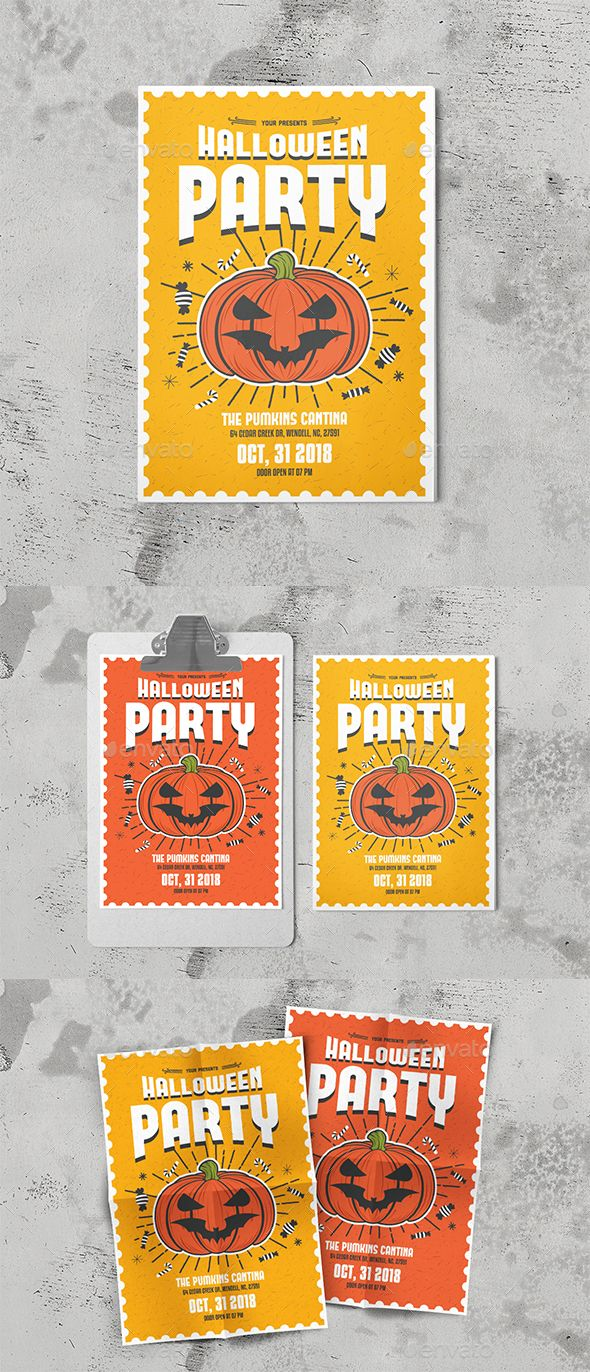 Halloween Party Flyer File Features:Psd & Ai Files Size A4