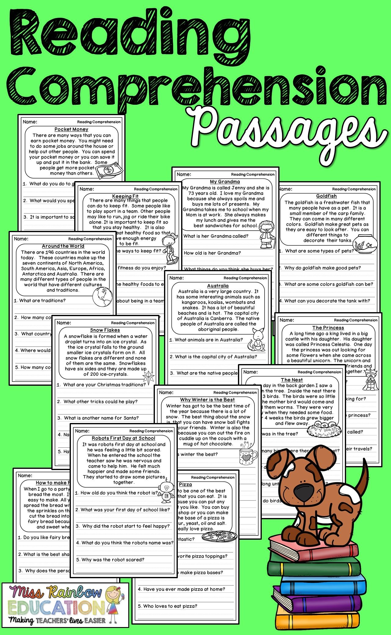 Reading Comprehension Passages Reading Comprehension