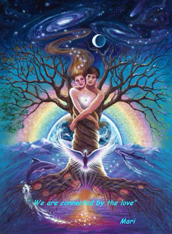 Twin flames always meant to find each other and touch each other's