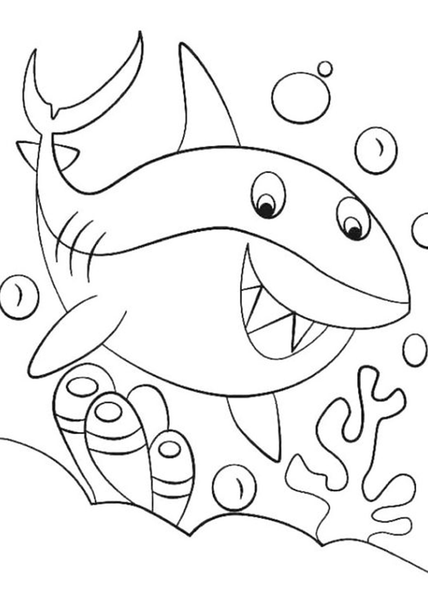 Free Cute Shark Coloring Page Shark Coloring Pages Coloring Pages Cute Shark