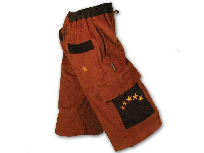 5 Star Corduroy cargo shorts & Patchwork Stripe corduroy cargo shorts