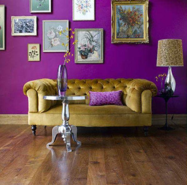 14 Wohnzimmer Designs in Lila -   wohnideennde/wohnzimmer/08 - Wohnzimmer Modern Lila