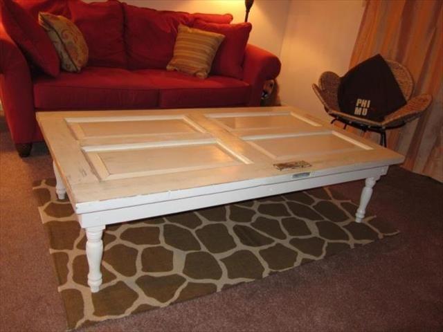 DIY Old Doors Turn into Coffee Table Doors Coffee and DIY furniture